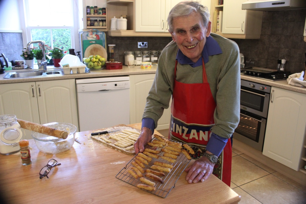 Peter Harvey and his cheese straws