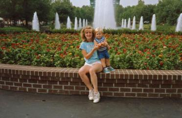 me and baby Dane, Kings Dominion VA